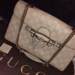 47960fb26b4d Gucci Bags - Gucci Guccissima Leather Emily Chain Shoulder Bag